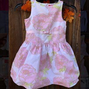 Gymboree girls pink floral sleeveless dress